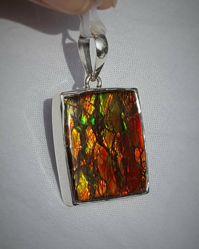 Ammolite set in silver
