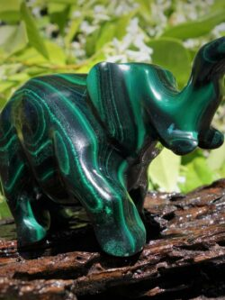 Superb Malachite Elephant carving