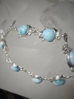 Larimar and silver Braclet