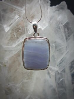 Blue Lace Agate Necklace - Communication Stone
